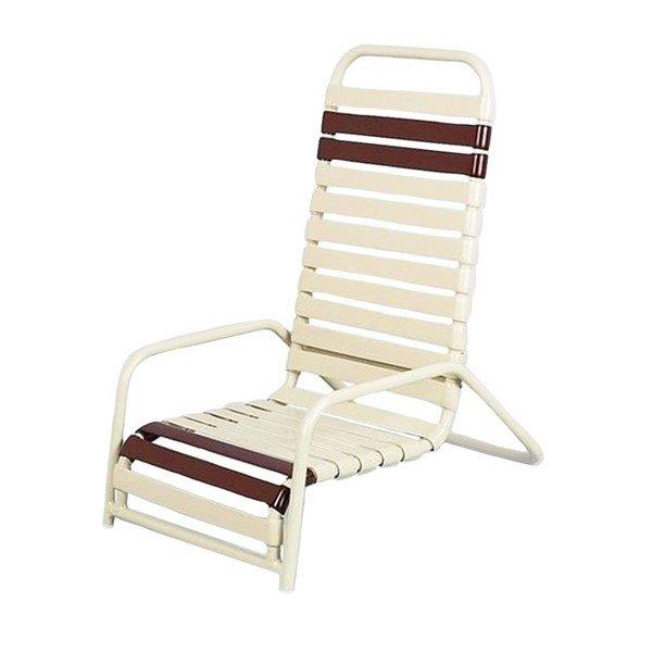 Daytona Vinyl Strap Commercial High-Back Sand Chair