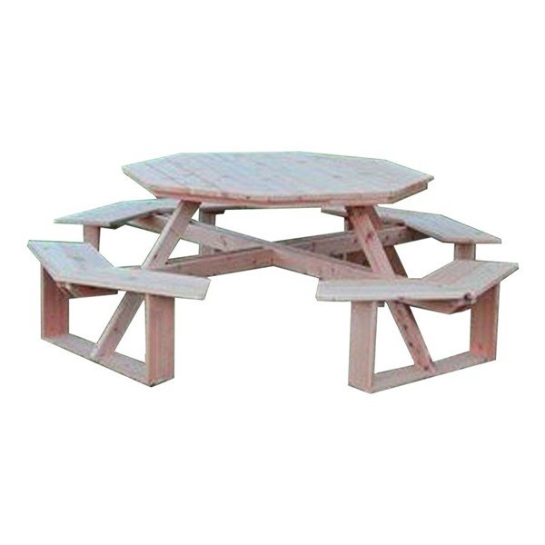 """54"""" Octagonal Walk-In Wooden Picnic Table"""