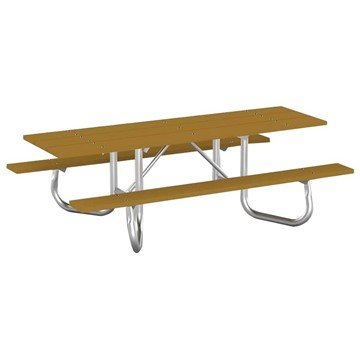 ADA Portable 8 Ft. Recycled Plastic Picnic Table with Steel Frame