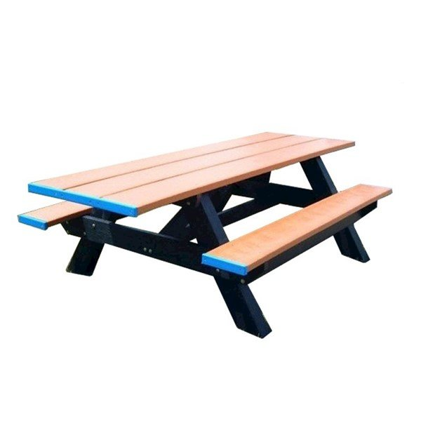 Double ADA Recycled Plastic Picnic Table, 8ft