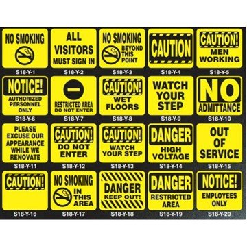 "Safety Silk Screened 11"" x 14"" Sign Panels"