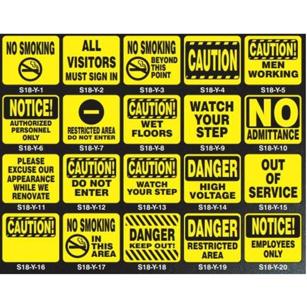 """Safety Silk Screened 11"""" x 14"""" Sign Panels"""