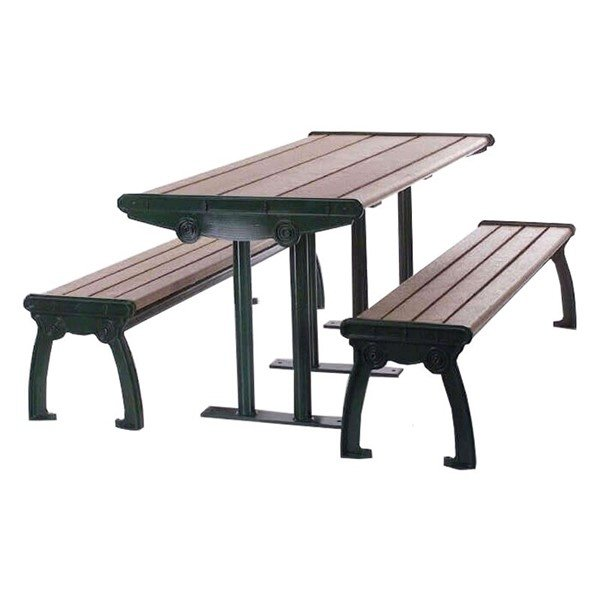 Park Ave Recycled Plastic Picnic Table With Cast Aluminum Frame