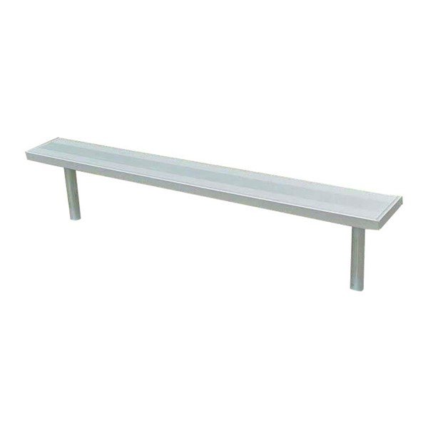 Stationary Aluminum Backless Sports Bench with Galvanized Steel Frame - 6 or 8 ft.