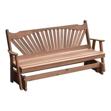 Fanback Wooden Glider Bench