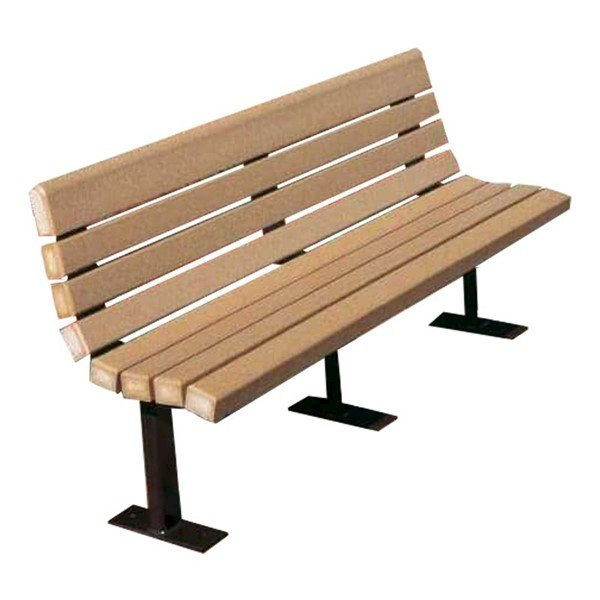 Contour Series Recycled Plastic Park Bench
