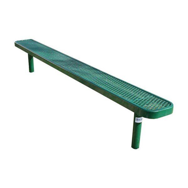 RHINO 8 Ft. Thermoplastic Polyolefin Coated Pedestal Bench Without Back