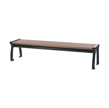 Park Ave Recycled Plastic Backless Bench With Cast Aluminum Frame