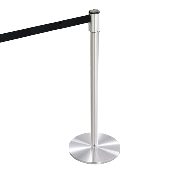 Extenda Barrier Queuing System with 13 ft Retractable Straps - Flat Base