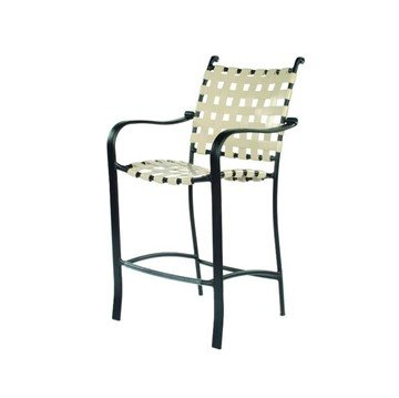 Rosetta Basketweave Vinyl Strap Barstool with Powder-Coated Aluminum Frame - 17 lbs.