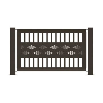 "55"" x 32"" Fencing Panel Powder-Coated Steel - 45 lbs."