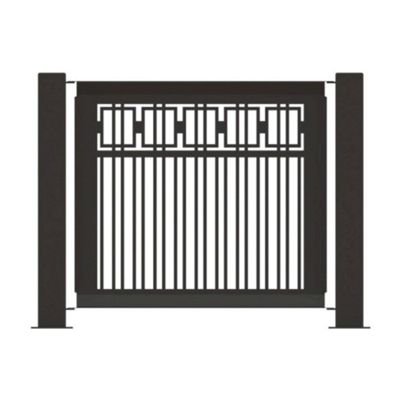 "25.5"" x 32"" Fencing Panel Powder-Coated Steel - 22 lbs."