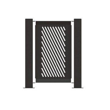 "14.5"" x 32"" Fencing Panel Powder-Coated Steel - 15 lbs."
