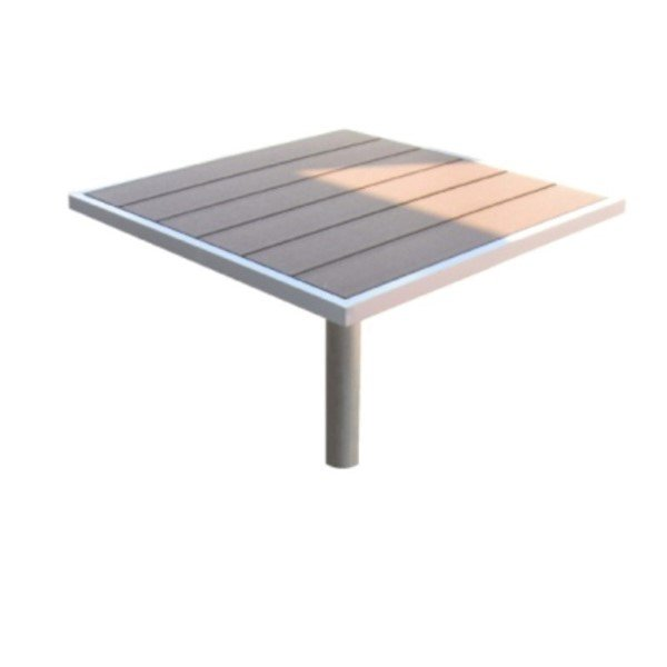 """36"""" x 36"""" Lorna Table with Aluminum Frame and Plastic Boards - 130 lbs."""
