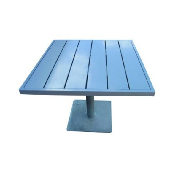 """36"""" x 36"""" Urban Table with Powder-Coated Aluminum Frame and Boards - 120 lbs."""