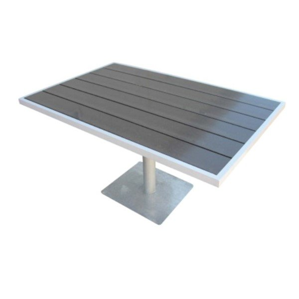 "57"" x 36"" Lorna Table with Aluminum Frame and Plastic Boards - 180 lbs."