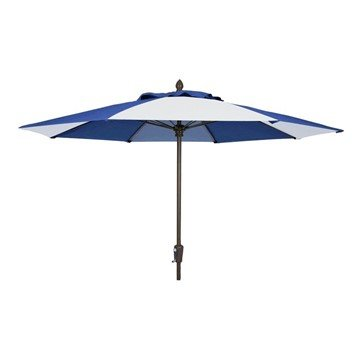 7.5 Ft. Octagonal Commercial Fiberglass Ribbed Market Umbrella With Two Piece Aluminum Pole And Alternating Canopy Pattern
