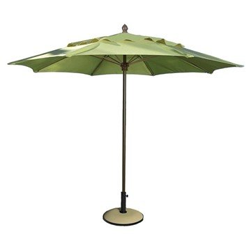 11 Ft. Octagonal Commercial Fiberglass Ribbed Market Umbrella With Aluminum Pole And Marine Grade Fabric