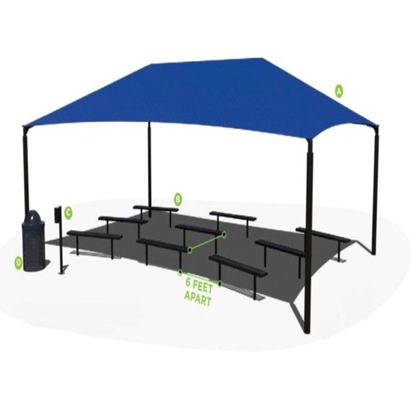 Outdoor Classroom Learning Environment - Bench Package