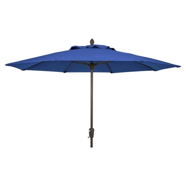 9 Ft. Octagonal Commercial Fiberglass Ribbed Market Umbrella With Aluminum Pole And Marine Grade Fabric Shade