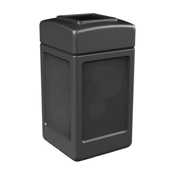 42 Gallon Poly Tec Polyethylene Square Waste Receptacle - 18 lbs.