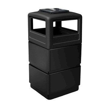 38 Gallon Three-Tier Ashtray Lid Polyethylene Plastic Receptacle - 21 lbs.