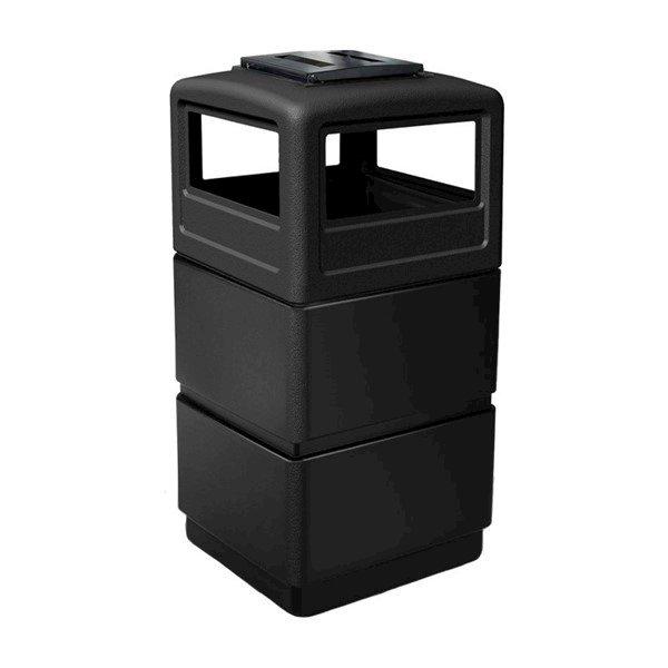 38 Gallon Three-Tier Ashtray Lid Polyethylene Plastic Receptacle - 21 lbs.