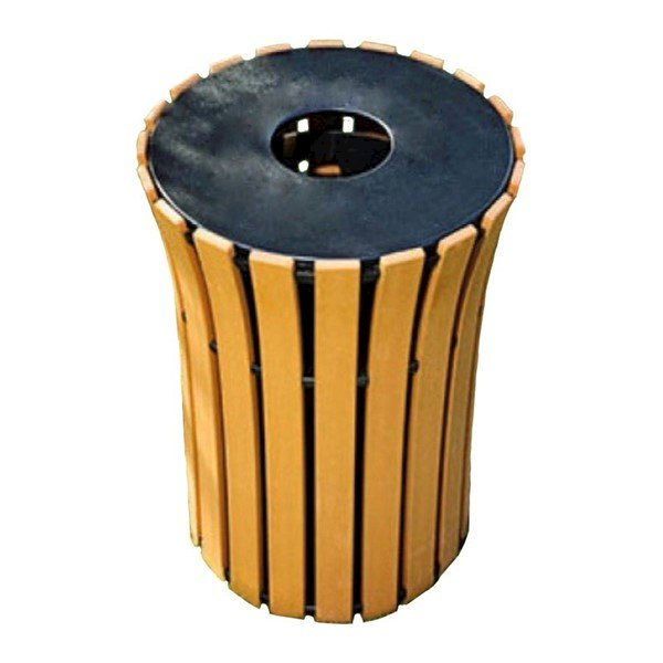 33 Gallon Round Flare Recycled Plastic Trash Receptacle