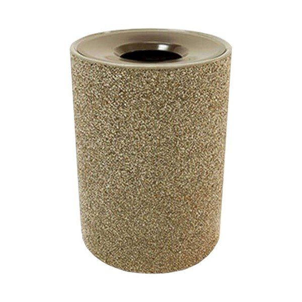 39 Gallon Commercial Concrete Round Trash Receptacle With Funnel Top