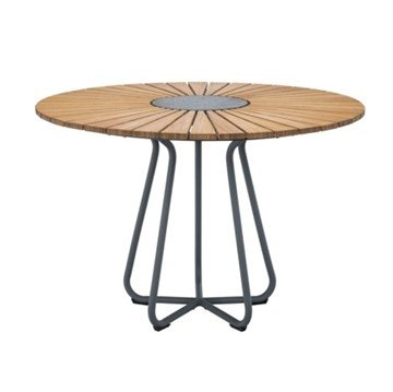 "Ledge Lounger Round Bamboo Playnk Dining Table - 43"" or 59"""