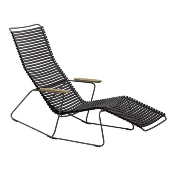 Ledge Lounger Playnk Chaise Lounge with Bamboo Armrests and Resin Slats - 30 lbs.