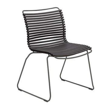 Ledge Lounger Playnk Dining Side Chair with Resin Slats and Powder-Coated Steel Frame - 16 lbs.