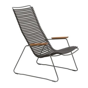 Ledge Lounger Playnk Lounge Chair with Powder-Coated Steel Frame and Bamboo Armrests - 24 lbs.
