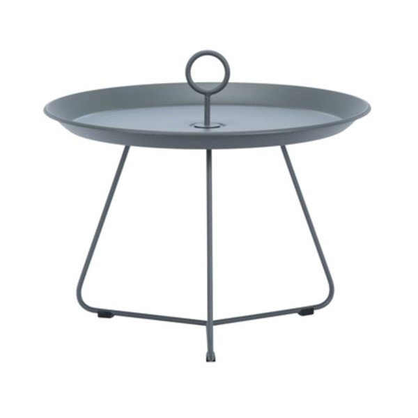 Ledge Lounger Round Playnk Side Table with Powder-Coated Steel