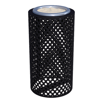 Plastic Coated Perforated Steel Ash Urn
