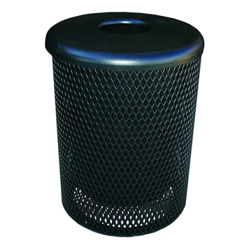 Standard 55 Gallon Metal Waste Receptacle & Liner