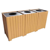 Triple Square Recycled Plastic Bin Recycling Centers