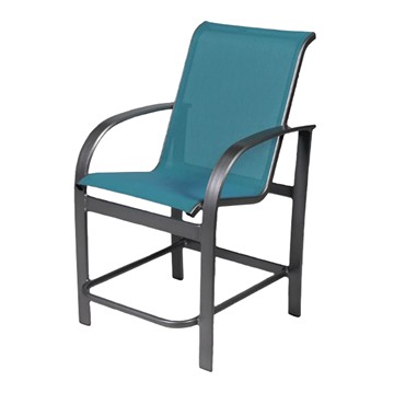 Maya Sling Gathering Chair with Powder-Coated Aluminum Frame - 18 lbs.