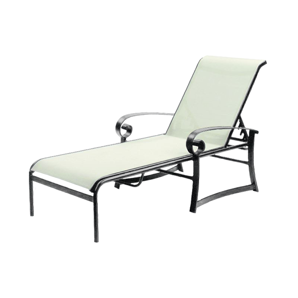 Orleans Sling Chaise Lounge with Powder-Coated Aluminum Frame - 32 lbs.