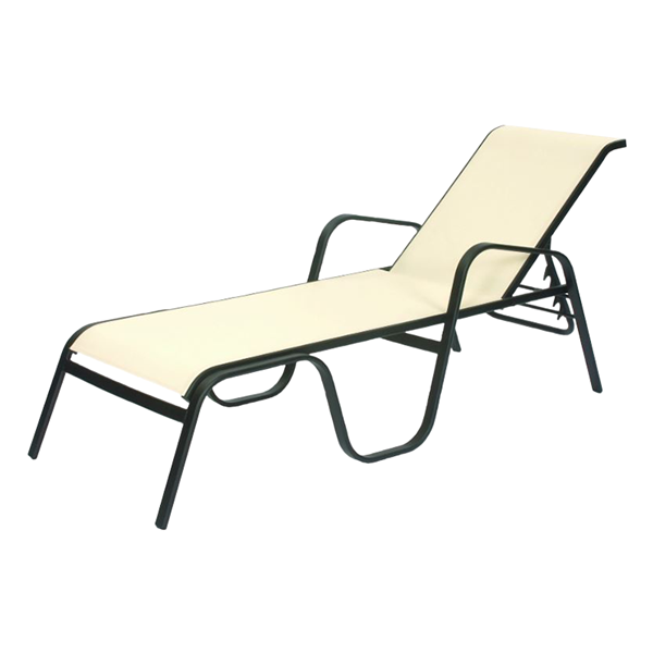Seascape Sling Chaise Lounge with Stackable Powder-Coated Aluminum Frame - 29 lbs.