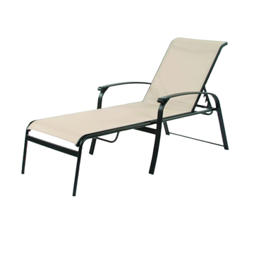 Rosetta Sling Chaise Lounge with Powder-Coated Aluminum Frame - 24 lbs.
