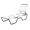 Sanibel Vinyl Strap Chaise Lounge with Powder-Coated Aluminum Frame - 24 lbs.