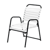 Sanibel Vinyl Strap Dining Chair with Powder-Coated Aluminum Frame - 12 lbs.