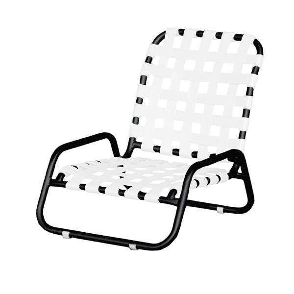 Sanibel Basketweave Vinyl Strap Sand Chair with Powder-Coated Aluminum Frame - 11 lbs.