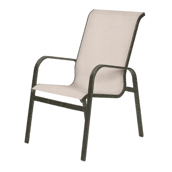 Seascape Sling Hi-Back Dining Char with Powder-Coated Aluminum Frame - 16 lbs.