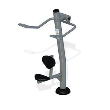 Lat Pull Down Station for Commercial Areas - Footing, Surface, or In-Ground Mount