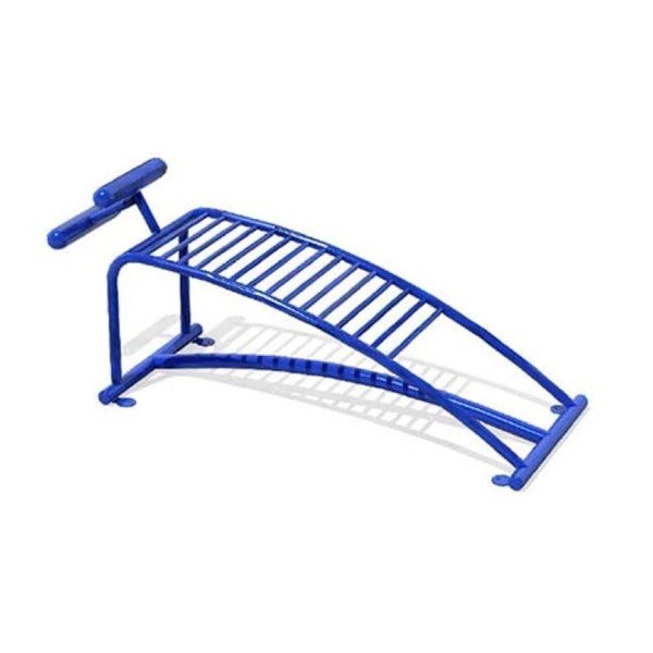 Sit-Up Bench Station for Public Parks - In-Ground Mount