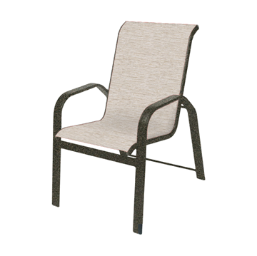 Maya Sling Stackable Dining Chair with Powder-Coated Aluminum Frame - 14 lbs.