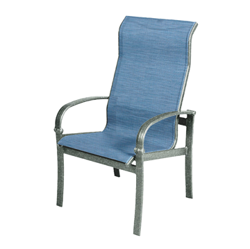Madison Dining Chair Sling with Powder-Coated Aluminum Frame - 18 lbs.