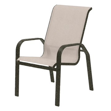 Maya Sling Hi-Back Dining Chair with Powder-Coated Aluminum Frame - 14 lbs.